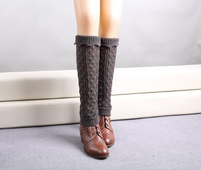 1 Pair 21.5cm Length Leg Warmers Warm Long Socks 9 Colors Fashion Knitted Socks For Women Calentadores De Piernas