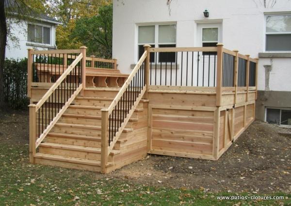 Les 91 meilleures images propos de patios sur pinterest - Idee de patio en bois ...