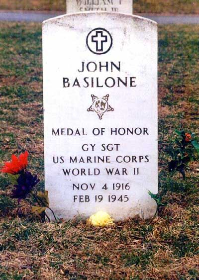 "John Basilone - World War II Congressional Medal of Honor Recipient. Known as ""Manila John"", he was one of the first Marines to be awarded the Medal of Honor during World War II."