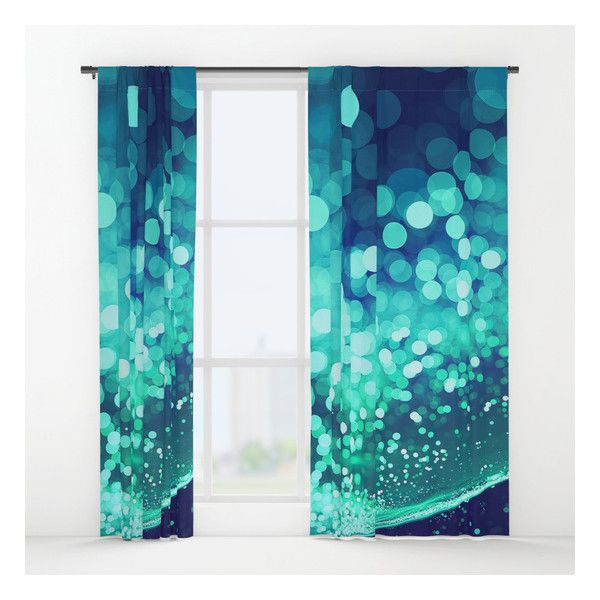 Aqua Blue Glitter Wave Window Curtains ($79) ❤ Liked On Polyvore Featuring  Home, Home Decor, Window Treatments, Curtains, Sparkles, Aqua Blue  Curtains, ...