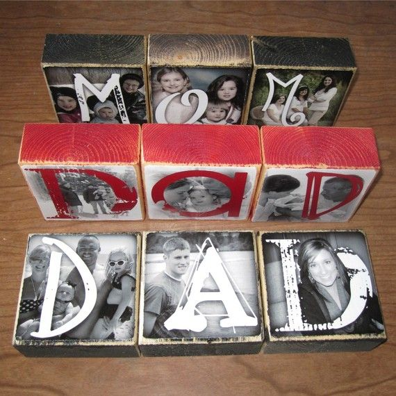 mother's day, father's day, every day  photo blocks