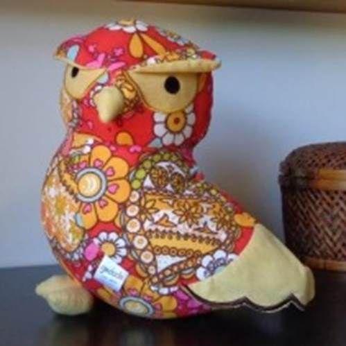 Printed Stuffed Owl  Click to buy >>>  www.lillyjack.com.au