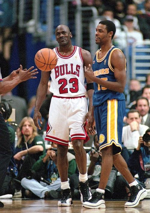 Michael Jordan Chicago Bulls Latrell Sprewell Golden State Warriors