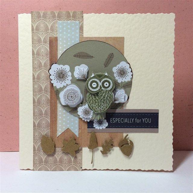 Owl Folk card | docrafts.com