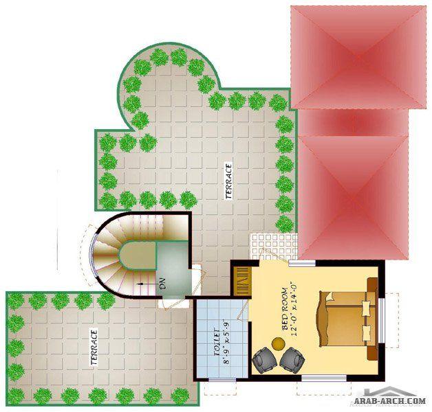 استراحة مزرعة طابق و غرفة علوية Arab Arch Villa Design Design House