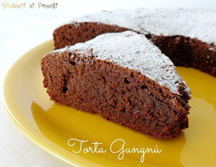 dal blog Studenti ai Fornelli: Torta GNUGNU, torta al cioccolato fondente