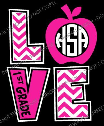 original design chevron love teacher shirt apple monogram shirt 3rd grade 2nd grade kindergarten teacher t shirt teacher monogram tee - T Shirt Design Ideas For Schools