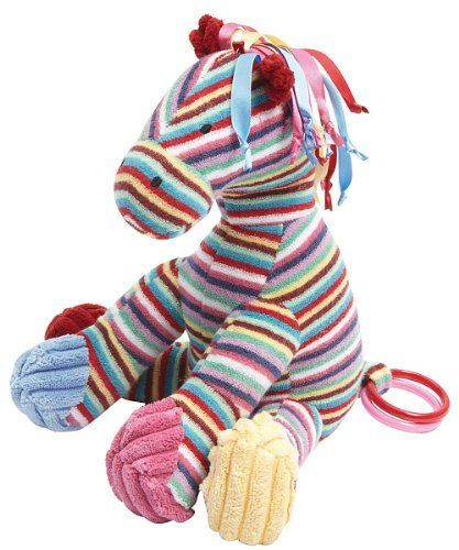 """Jellycat Carousel Pony Musical Pull by Jellycat. $23.99. Jellycat designs are unique with just a hint of """"attitude"""" appealing to all ages. Jellycat, established in London in 1999, is one of the world's leading luxury soft toy companies, fast becoming a lifestyle company.Recommended Ages: 0 - 2 YearsProduct Measures:4x4x9"""