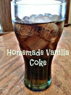Homemade Vanilla Coke Recipe |  Vanilla syrup to add to coffee, coke, warm milk, etc.. Could make the same syrup with almost any extract like strawberry, orange, mint, lemon, raspberry or rootbeer to add to club soda.
