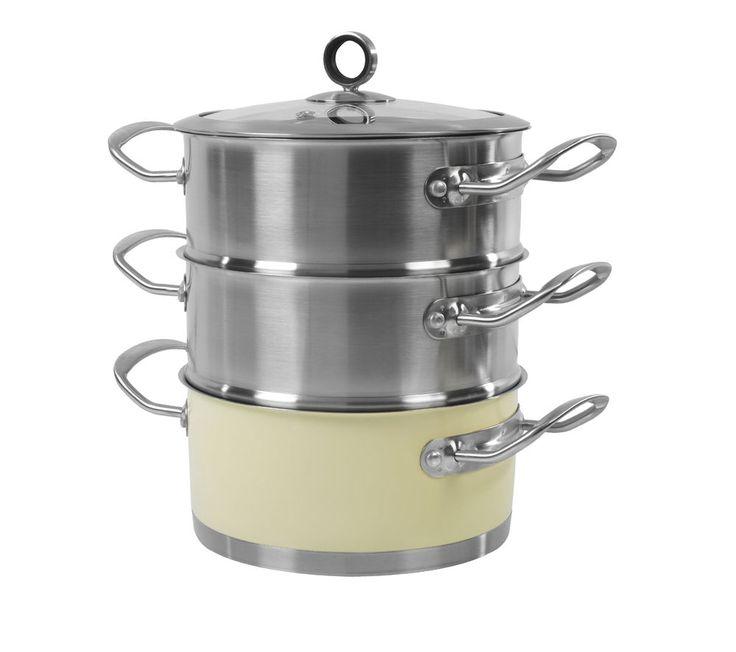 MORPHY RICHARDS 46382 18 cm 3-Tier Steamer - Cream, Cream: The Morphy Richards 46382 18 cm 3-Tier Steamer gives… #Electrical #HomeAppliances