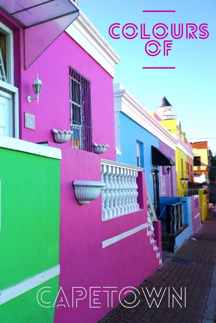 Capetown colorful houses in the Bo Kapp neighborhood. A South Africa color sensation.