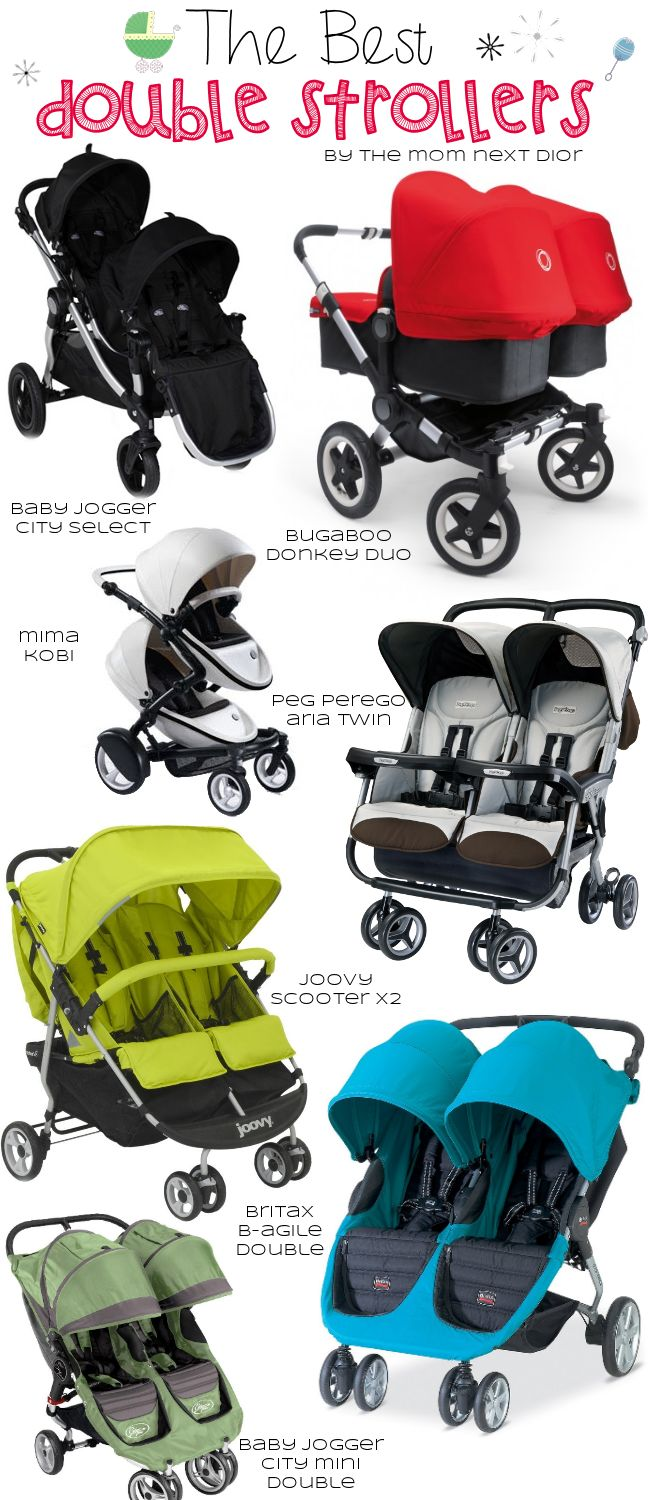 The best strollers from The Mom Next Dior, Great list for baby registry or shopping. #baby #strollers #mima #britax #bugaboo