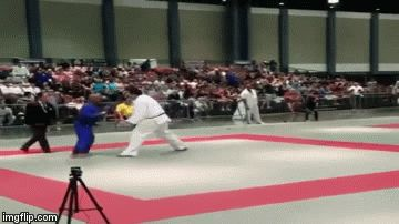 Judo 유도 :  Hector Lombard, former judo Olympian by Cuba and currently fighting MMA in the UFC, performing a beautiful Ippon-seoi-nage to a 7ft tall opponent!