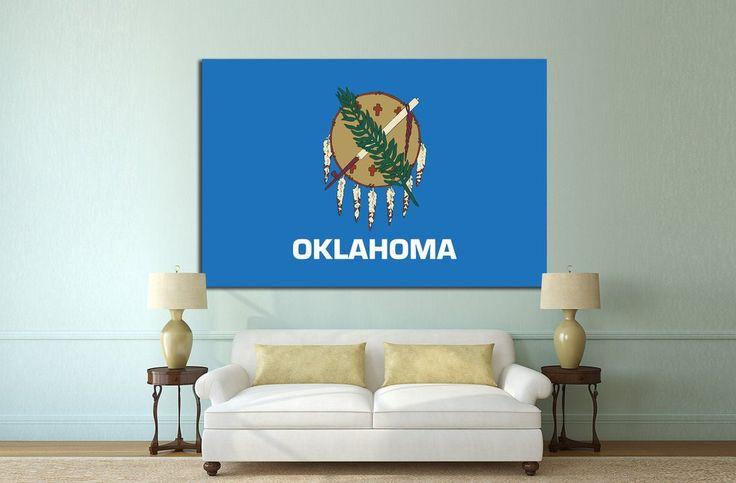 Flag of Oklahoma canvas print. #Oklahoma #Flag #Canvas