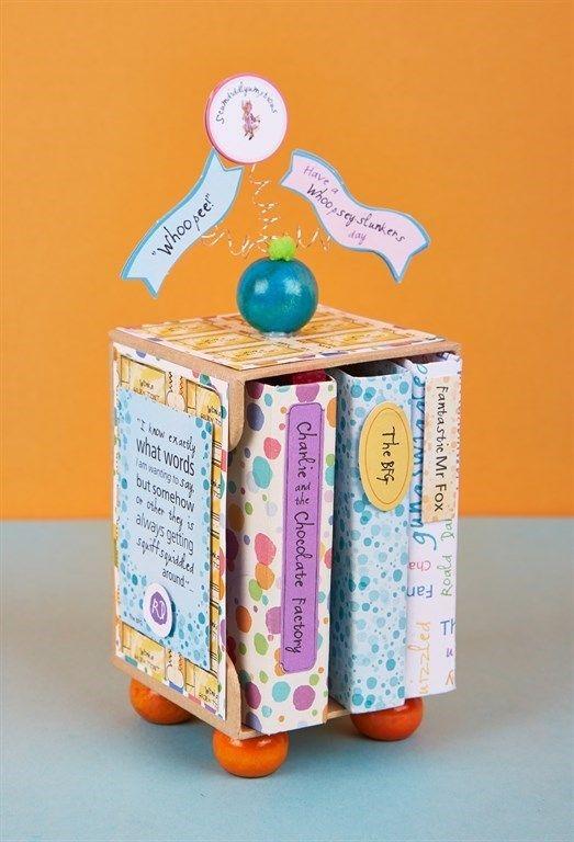 Roald Dahl Mini Stamp Bookshelf | docrafts.com