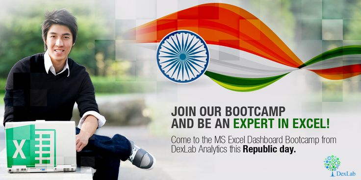 Use this #RepublicDay  to increase your employability with #MSExcel Dashboard Skills. See you at the Bootcamp!
