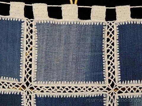 Reciclando jeans..una cortina a crochet