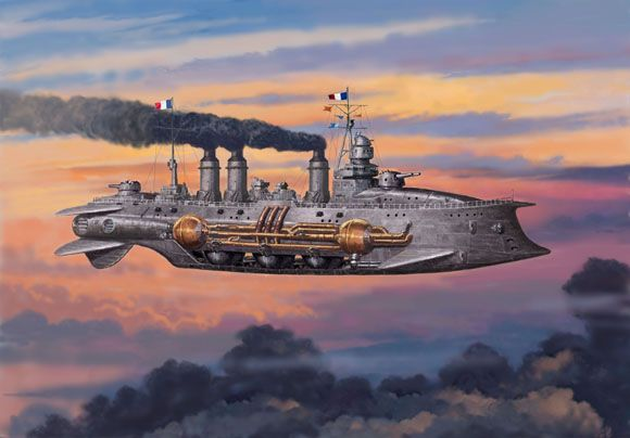 French Grenoille-class Type 1 Destroyer_Preview. #steampunk #steampunkart http://www.pinterest.com/TheHitman14/artwork-steampunked/