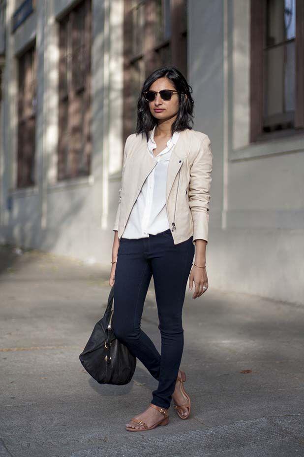 25 Best Ideas About Cream Leather Jacket On Pinterest