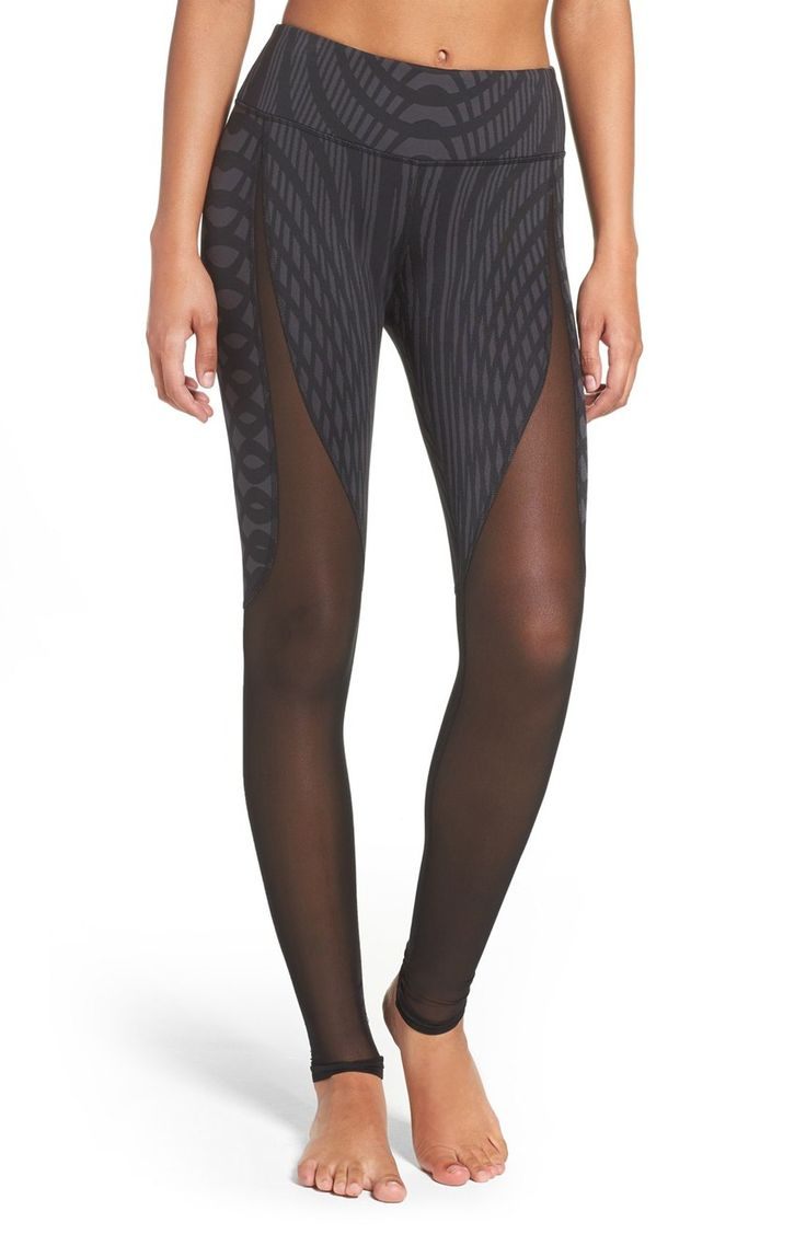 Keep cool yet totally covered in these futuristic performance leggings that hug and move with through every yoga pose.