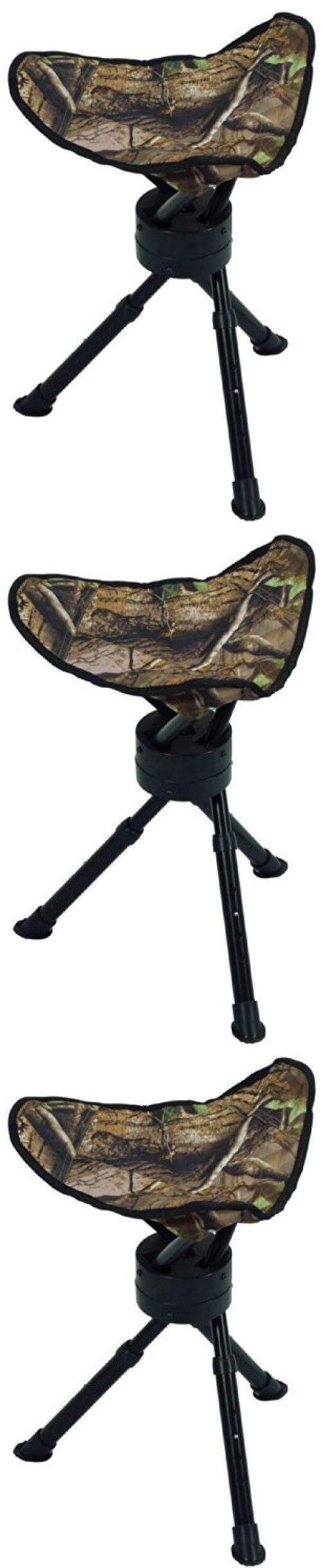 Seats and Chairs 52507: Hunting Stool Chair Tripod Swivel Camo Portable Compact Deer Tree Stand Seat BUY IT NOW ONLY: $31.68