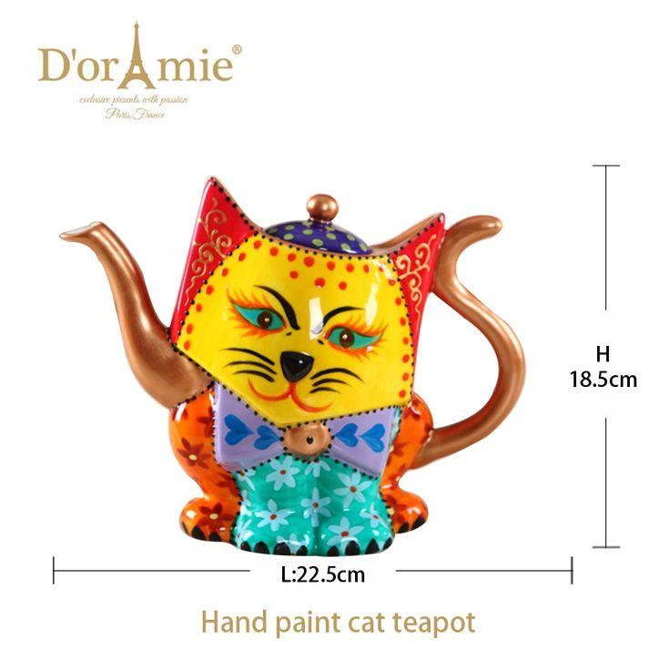 custom printed teapot porcelain lucky cat tea pot