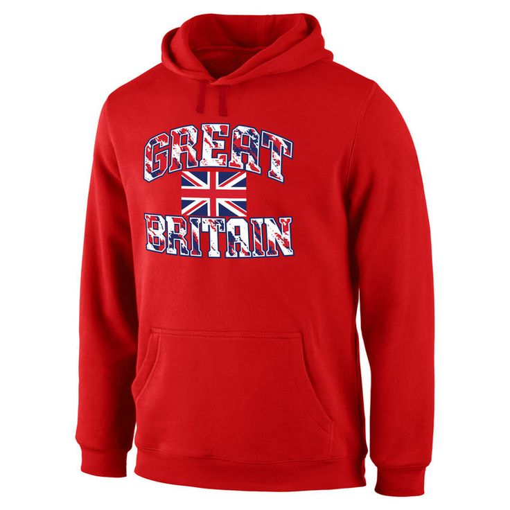 Great Britain Fanatics Branded True Colors Pullover Hoodie - Red