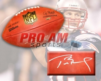 Tom Brady New England Patriots Autographed NFL Game Football - New England Patriots - other  To order or for more information or pricing please contact info@roadgearsports.com