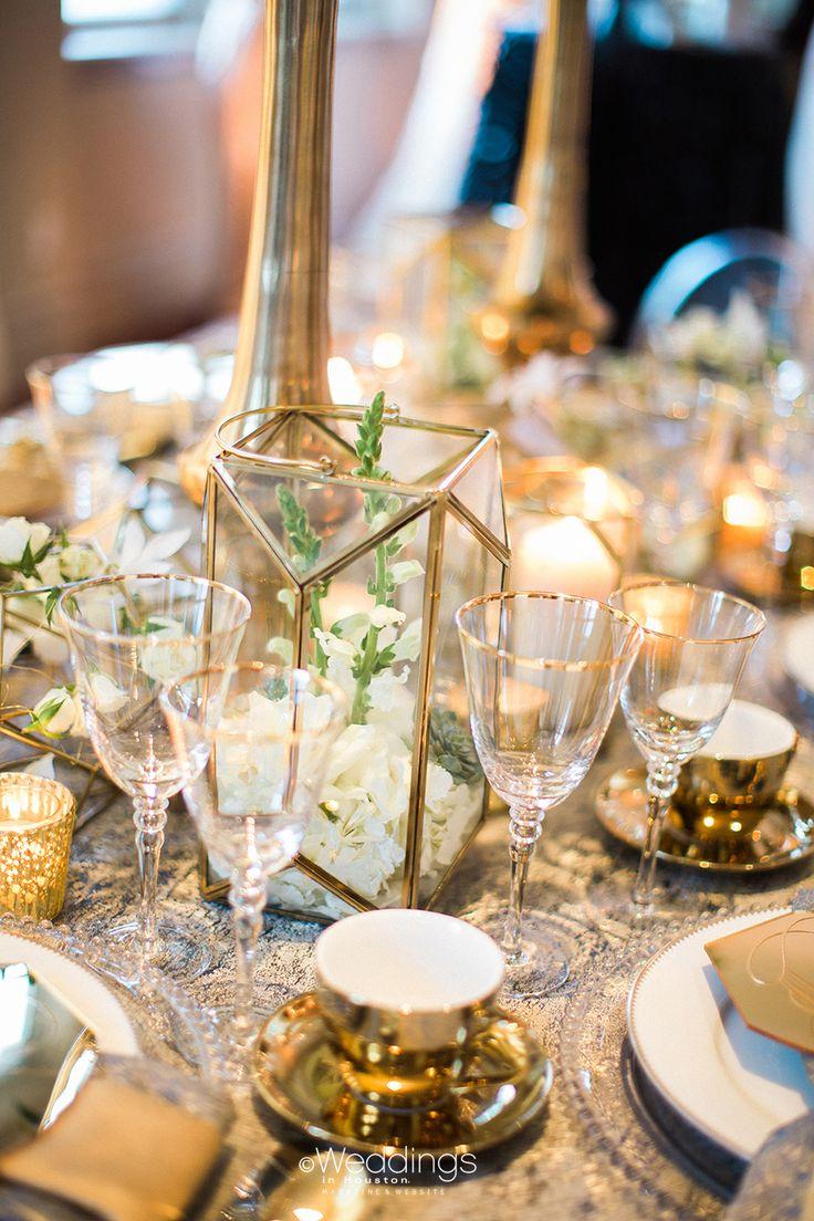 Beautiful Ivory & Gold Wedding Inspiration by EB Inc. Events   Photo: Civic Photos