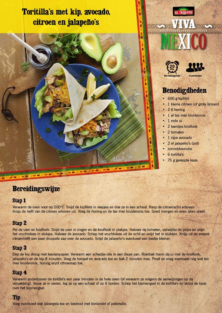 Tortilla's met kip, avocado,honing en jalapeños - Lidl Nederland