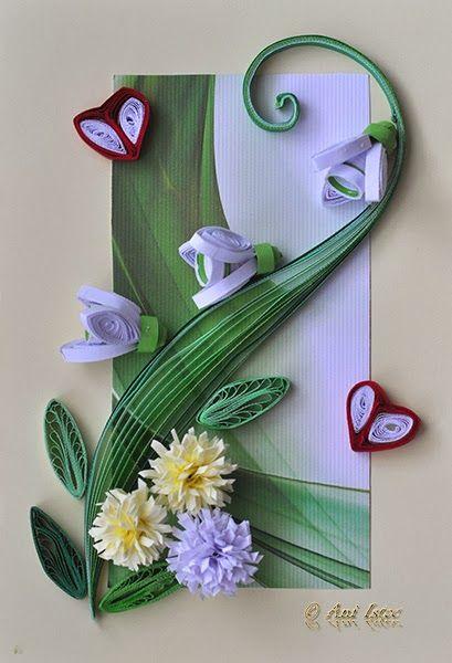 Printre hobby-uri: quilling, kusudama, origami, bijuterii handmade...: Quilling - Galanthus (Ghiocei / Snowdrops)