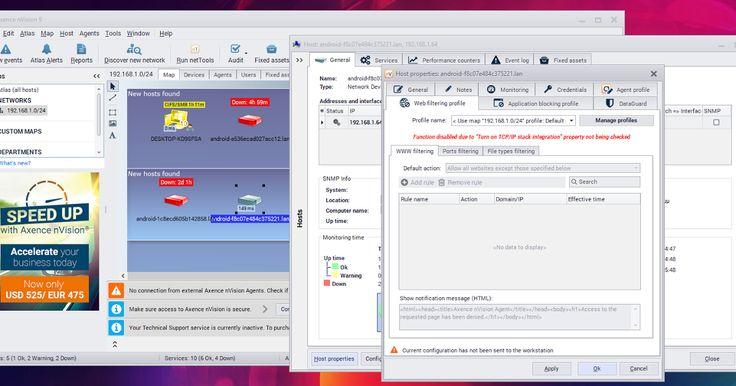 Το Axence nVision είναι η δωρεάν έκδοση του επαγγελματικού αντίστοιχου προγράμματός για την ολοκληρωμένη διαχείριση των υποδομών δικτύων. Το πρόγραμμα είναι εντελώς δωρεάν και για επαγγελματική χρήση! Παρέχει τη δυνατότητα χαρτογράφησης και την παρακολούθηση απεριόριστου αριθμού συσκευών καθώς και κάποιες βασικές αλλά χρήσιμες λειτουργίες παρακολούθησης χρηστών απογραφή υποστήριξης και ελέγχο πρόσβασης της συσκευής.  Με πιο απλά λόγια μπορείτε να ανακαλύψετε και να οπτικοποιήσετε το δίκτυό…