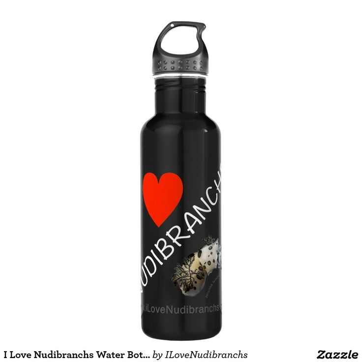 I Love Nudibranchs Water Bottle (24 oz) 24oz Water Bottle #nudibranch #iLoveNudibranchs #Bottle #WaterBottle @zazzle