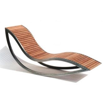 David Trubridge Dondola Rocker and Recliner Ideal for the outdoor use by virtue of its strong stainless steel base and streamlined look, this rocker and recliner