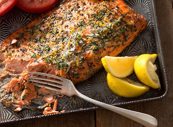 Lemon-Rosemary Salmon from Publix Aprons--We had this over the weekend and it was fabulous. David from Publix in Clemson suggested it and it was perfect. #Contest
