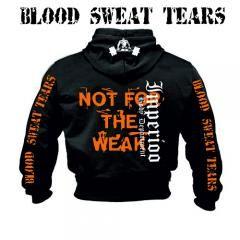 BLOOD SWEAT TEARS NOT FOR THE WEAK HOOD. Sveriges största utbud av träningskläder och gymkläder på nätet. www.bigsamab.se  #Imperioo #Imperioosports #bigsamab.se #träningskläder #gymkläder #motivation