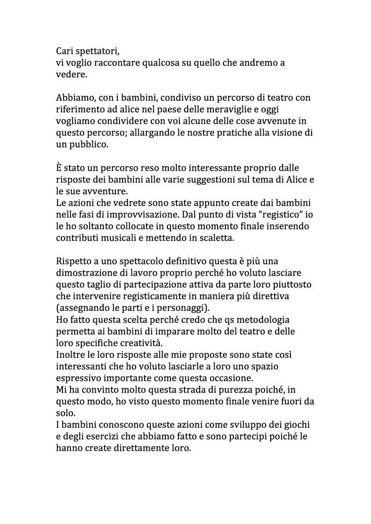 programma di sala della dimostrazione finale di lavoro del progetto zappa loves alice, percorso di teatro coi bambini su alice nel paese delle meraviglie svolto da ottobre 2015 a maggio 2016 presso Zappa a Prato.