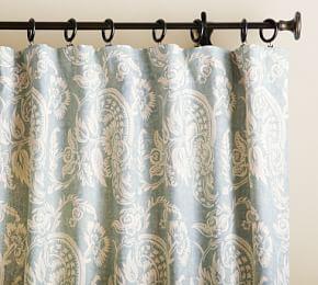 Mackenna Paisley Curtain 50 X 84 Quot Blue Paisley