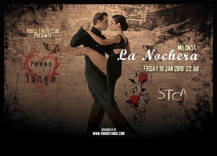 """Εβδομαδιαίαβραδιά αργεντίνικου τάνγκο στην καρδια της Ρόδου. Milonga """"La Nochera""""19 Ιανουαρίου 2018 """"Είναι αγκαλιά, είναι μουσική, είναι χορός, είναι επικοινωνία..είναι η αφορμή της συνάντησης.."""" Το τάνγκο μας περιμένει όλους ..."""