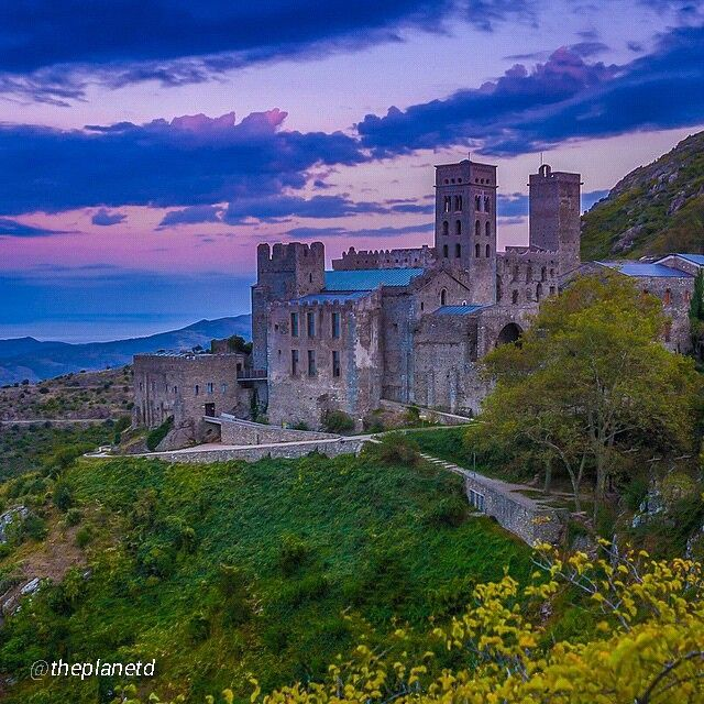 The Monastery of Sant Pere de Rodes in the province of Girona by @theplanetd Picture by @theplantd (Instagram)