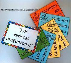 """Después de trabajar con un cuento, podéis alternar el uso del material La hora del cuento , con estas tarjetas que hoy os enseño: """"Las ta..."""