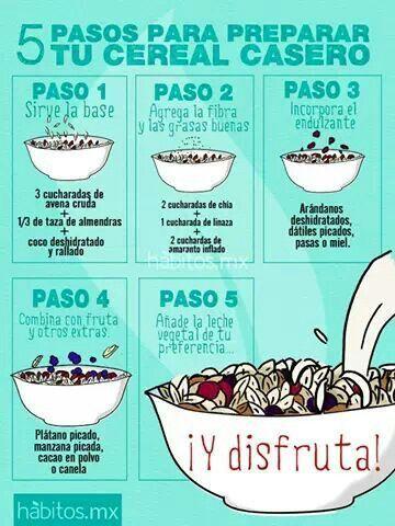 5 Pasos para preparar tu cereal casero, rico y saludable! #umayor #estudiantes #saludable #universidad