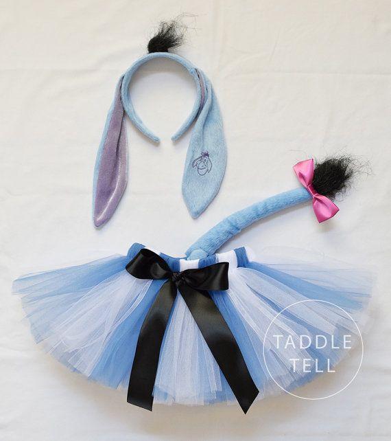 Eeyore Inspired Halloween Costume Tutu Includes by taddletellshop