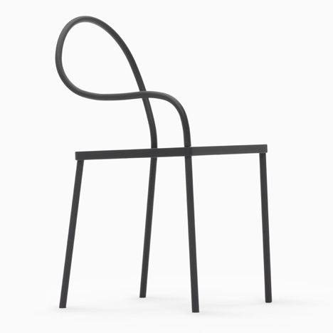 Melt chair from the black collection by Nendo for K%