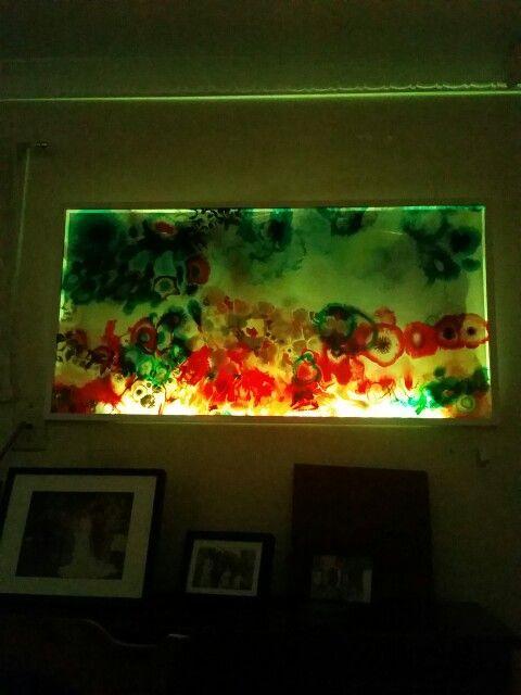 Resin under lights