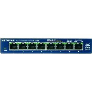 NETGEAR GS108 ProSafe 8-Port Gigabit Ethernet Desktop Switch