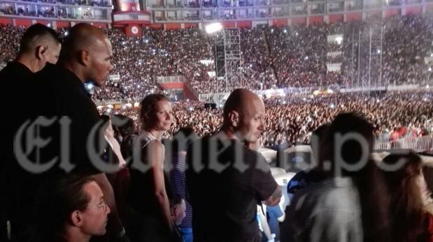 Gwyneth Paltrow estuvo en el concierto de Coldplay en Lima
