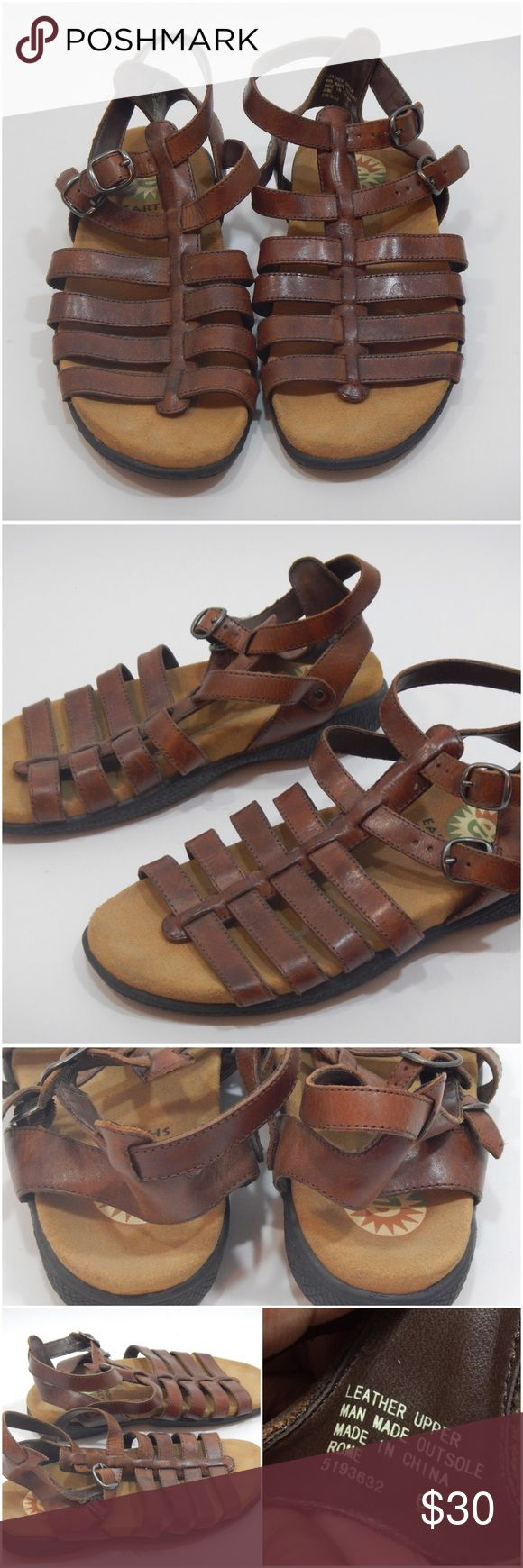 Brown ankle strap leather sandals - Earth shoe Brown ankle strap leather sandals. Preloved with minor signs of wear. Earth Shoe Shoes Sandals