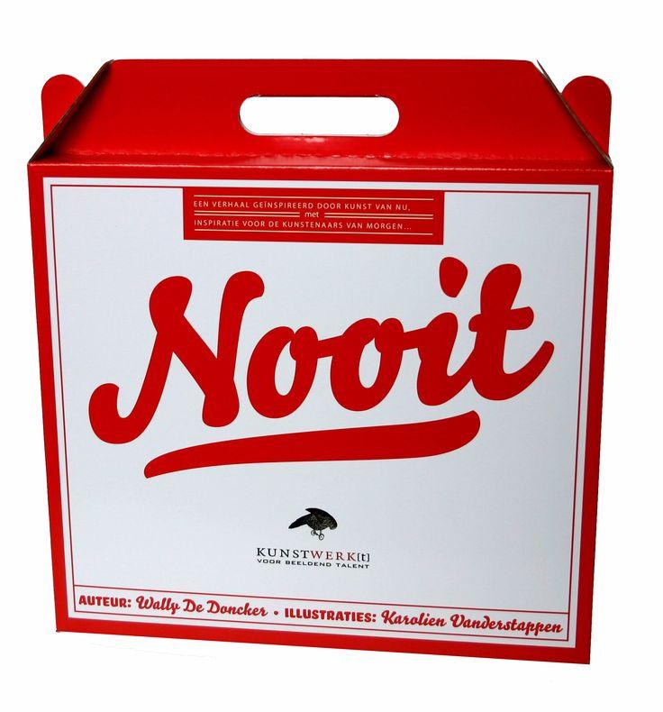 NOOIT is een kunstdoos voor +7-jarigen, gebaseerd op 10 kunstwerken van hedendaagse Belgische topkunstenaars. De jeugdschrijver Wally De Doncker baseerde hierop zijn verrassend en ongewoon verhaal. (www.kunstwerkt.be)