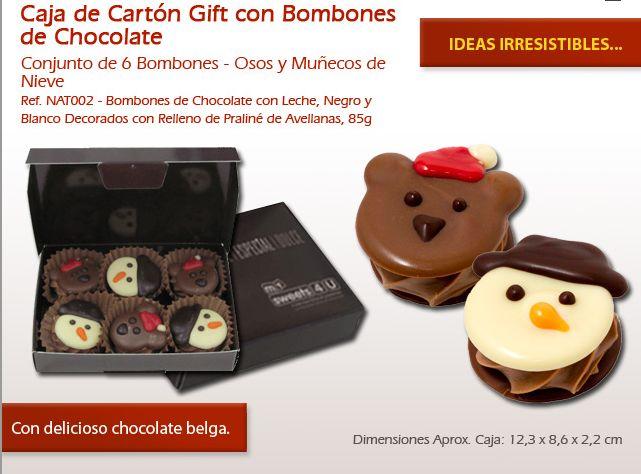 ¡No te resistas a nuestras figuras de Navidad de chocolate y ofrecer como regalo en Navidad!